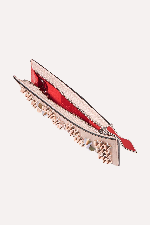 Christian Louboutin Portefeuille en cuir texturé à clous Credilou