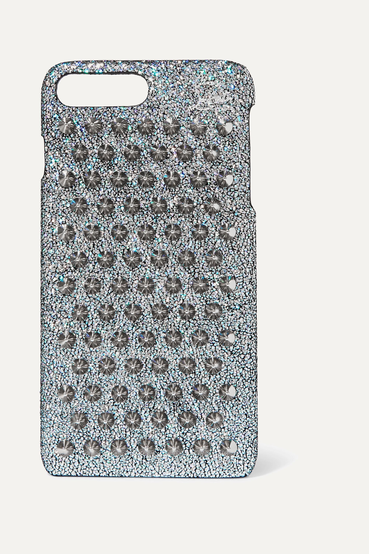 Christian Louboutin Coque pour iPhone 7 et 8 Plus en cuir à paillettes Loubiphone