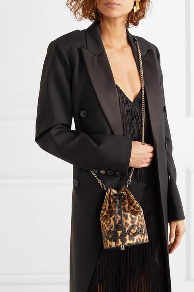 42fe1b3b9e1 Christian Louboutin | Marie Jane embellished leopard-print Lurex and ...