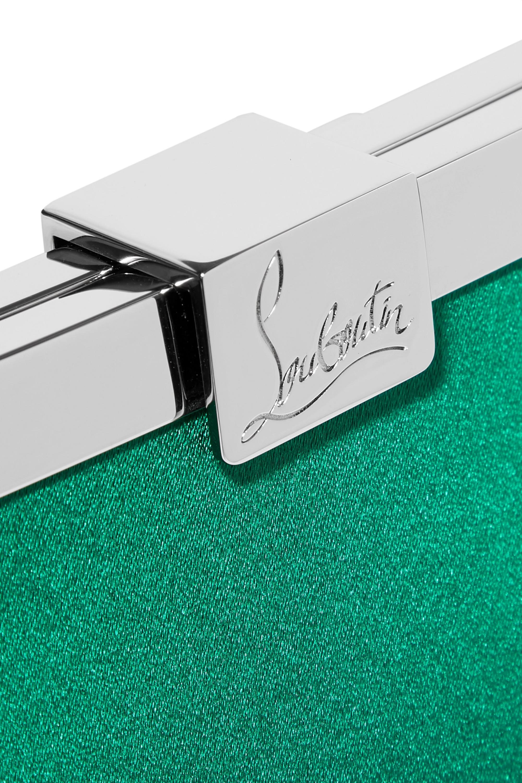 Christian Louboutin Palmette embellished satin clutch