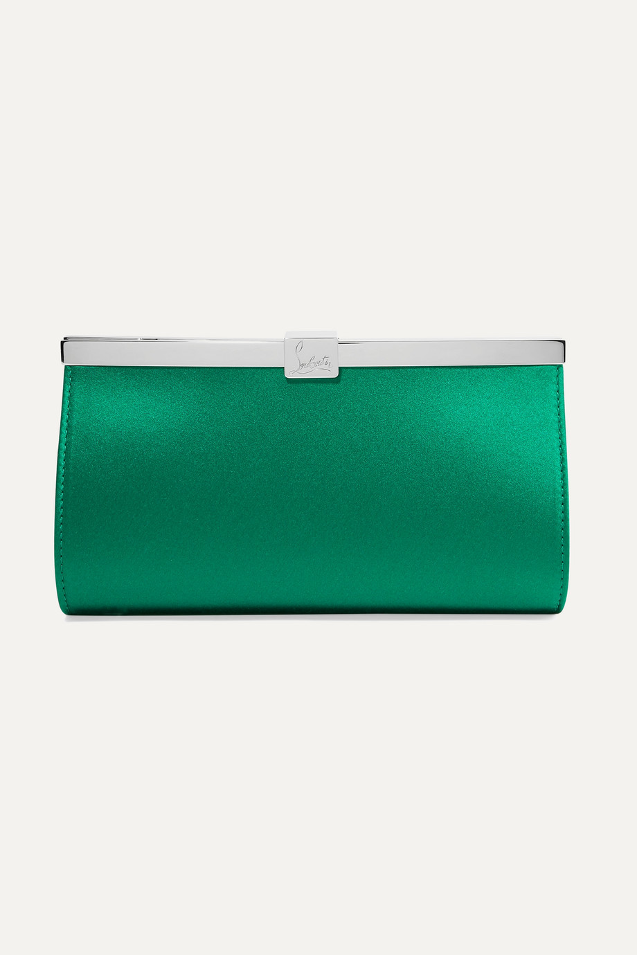 Christian Louboutin Palmette embellished satin clutch
