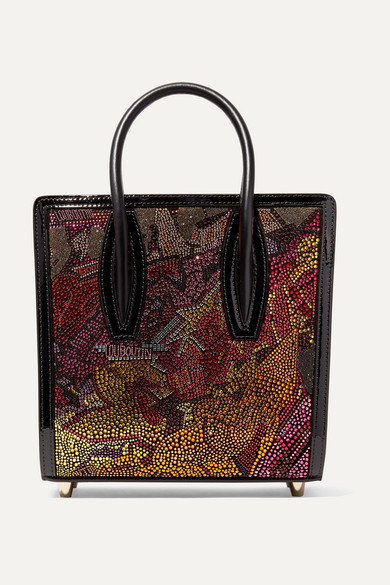 Paloma Small Embellished Printed Leather Tote in Metallic