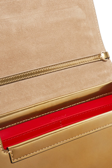 Christian Louboutin Rubylou Metallic Leather And Foil Shoulder Bag