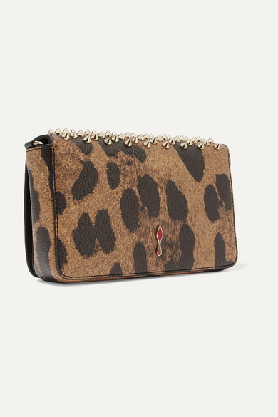 871562818b7 Christian Louboutin   Zoompouch spiked leopard-print leather ...
