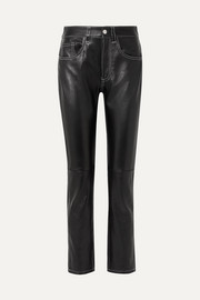 MM6 Maison Margiela Leather straight-leg pants