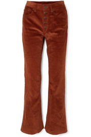 Cotton-corduroy bootcut pants