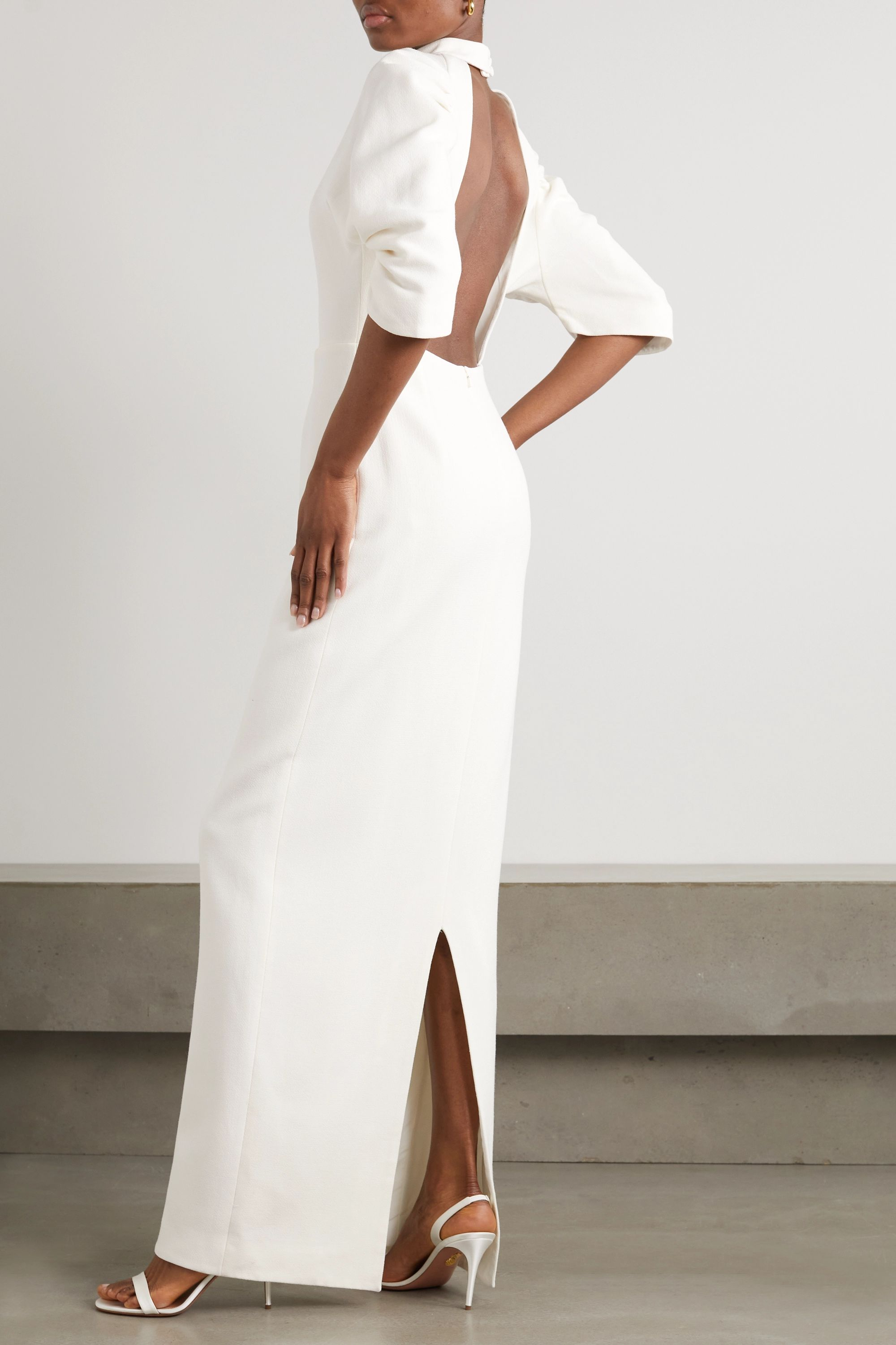 Emilia Wickstead Sharonella open-back wool-crepe dress