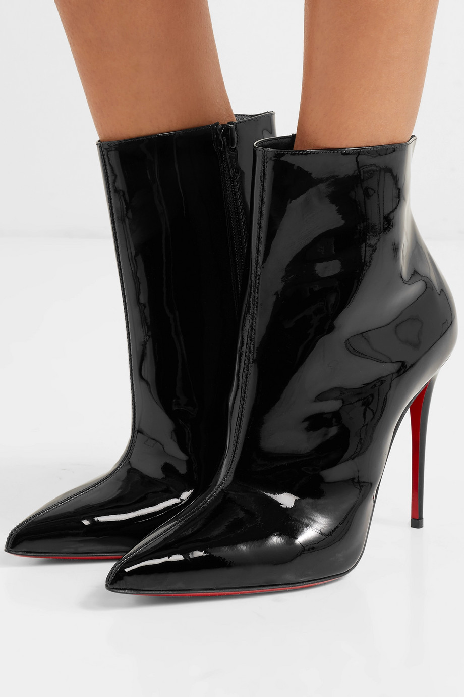 Christian Louboutin Bottines en cuir verni So Kate Booty 100