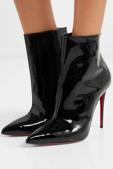 separation shoes eba56 56694 Christian Louboutin | So Kate Booty 100 patent-leather ankle ...