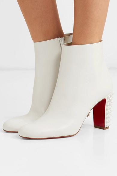9a1edb0f0e7 Christian Louboutin | Suzi Folk 85 spiked leather ankle boots | NET ...