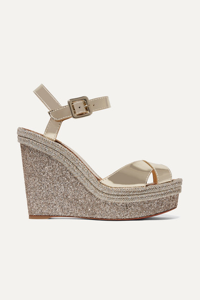 1d707a61f211 Christian Louboutin. Almeria 120 leather espadrille wedge sandals
