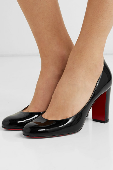 c19b9fd2cd6 Christian Louboutin | Lady Gena 85 patent-leather pumps | NET-A ...