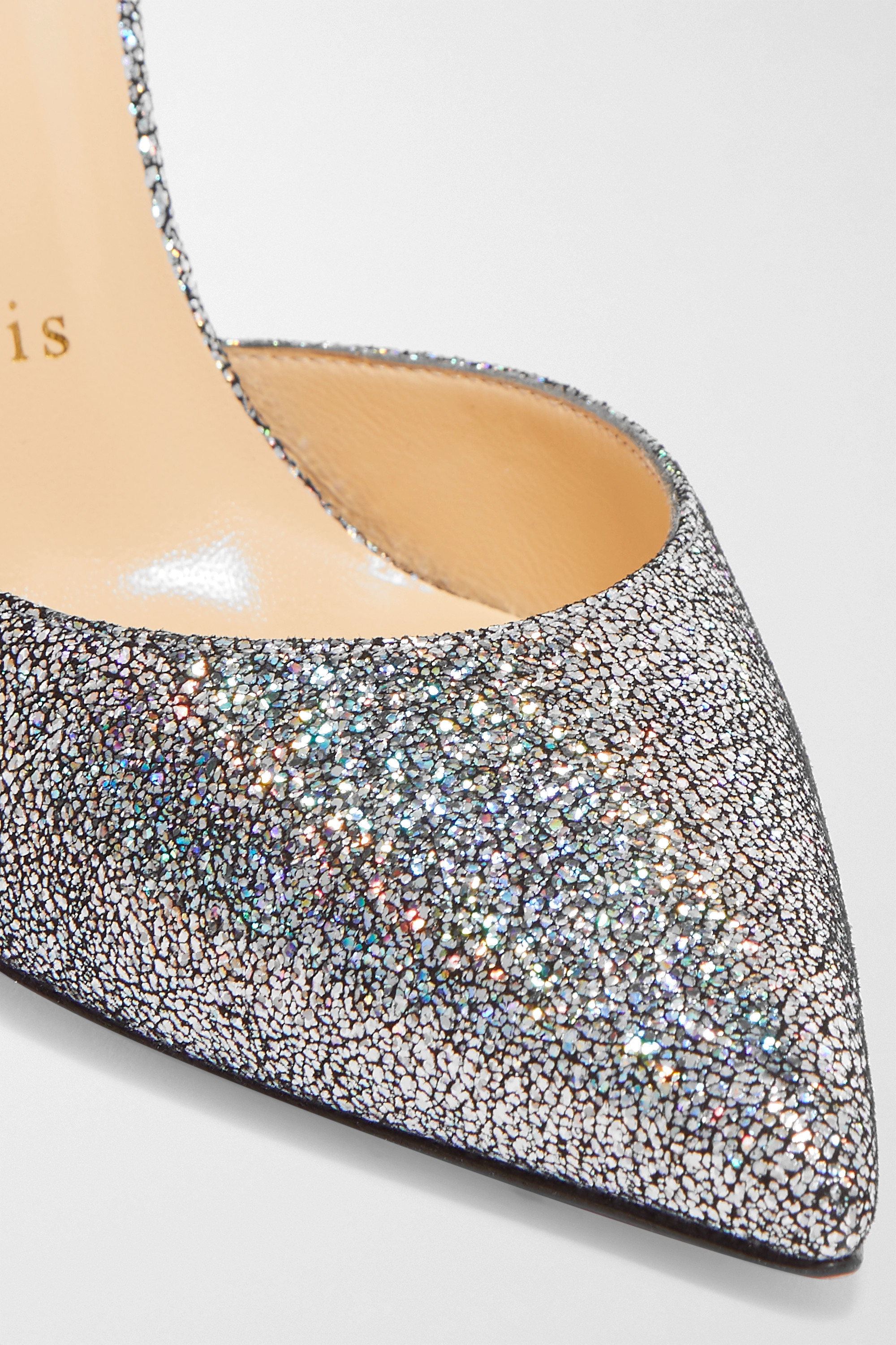 Christian Louboutin Iriza 100 metallic coated leather pumps