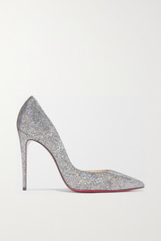 Iriza 100 metallic coated leather pumps