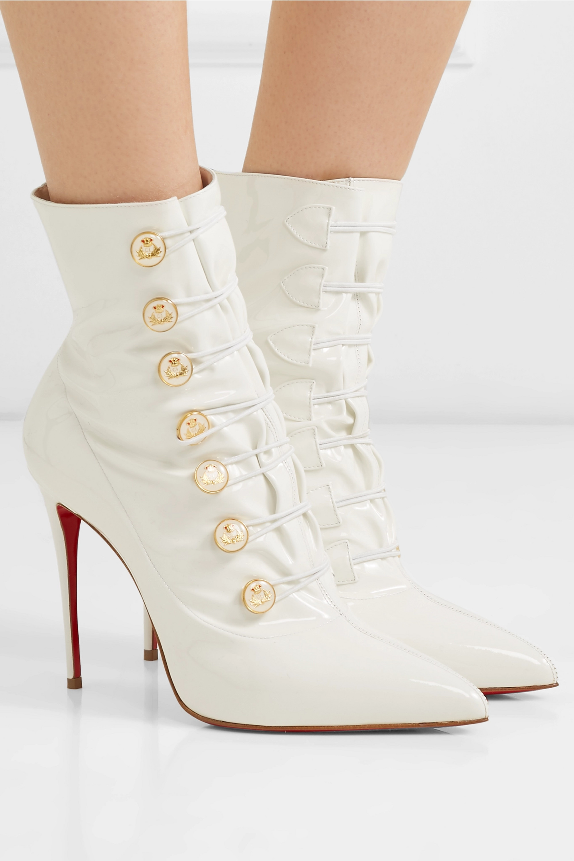 100 patent-leather ankle boots