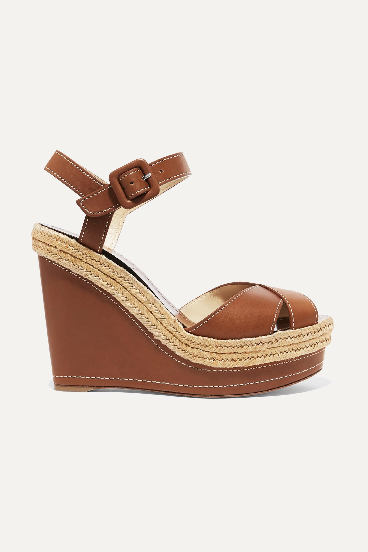 Brown Almeria 120 leather espadrille