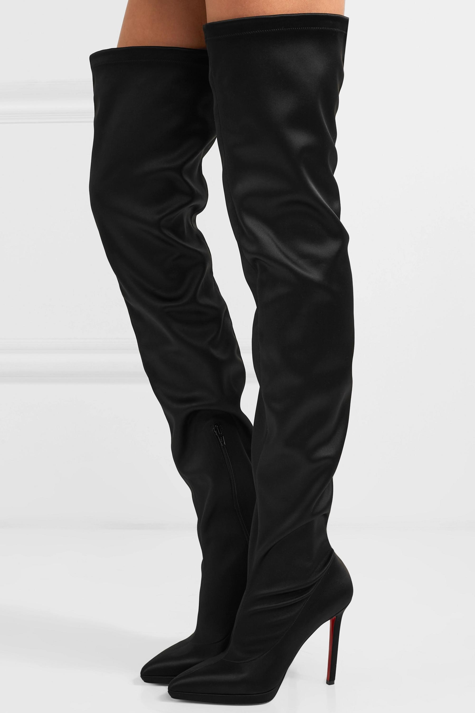 Montana 120 stretch-satin thigh boots