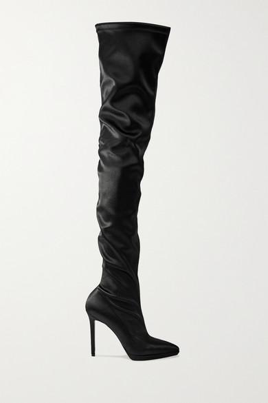 32de8e958 Christian Louboutin | Montana 120 stretch-satin thigh boots |  NET-A-PORTER.COM