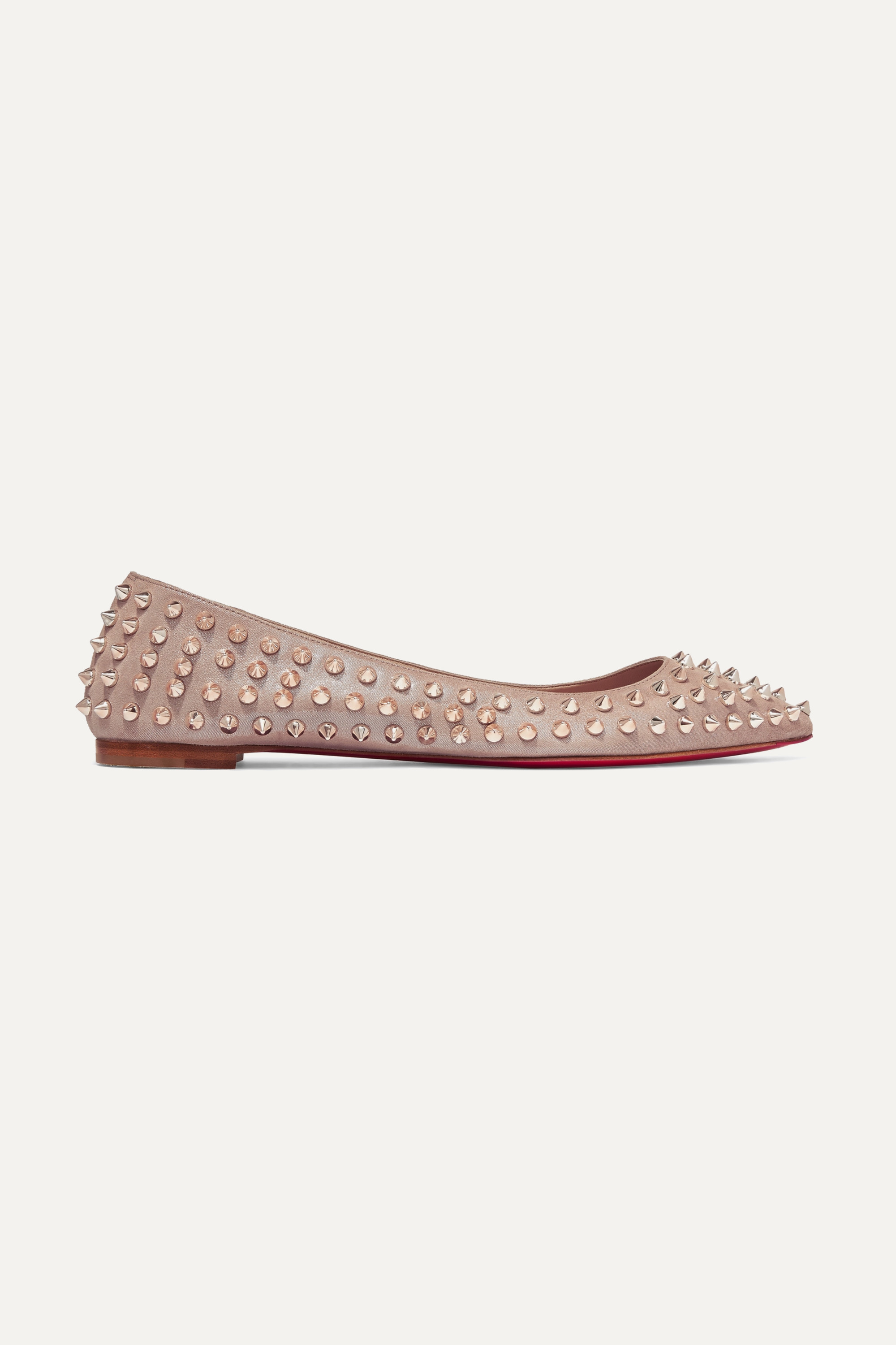 Pastel pink Ballalla spiked leather