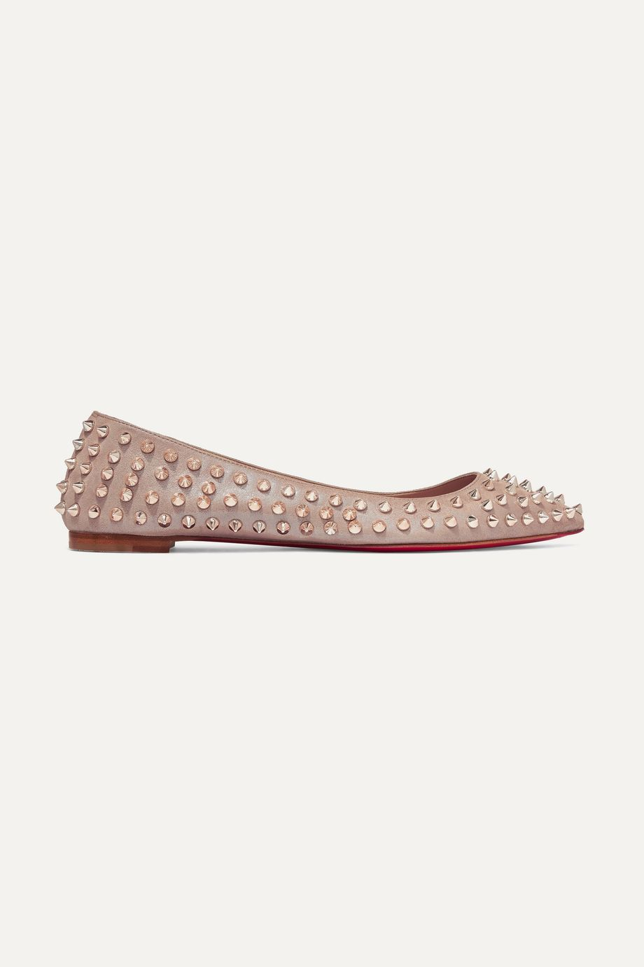 Christian Louboutin Ballalla spiked leather point-toe flats