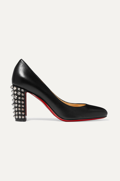 Marimalus 85 Studded Leather Pumps in Black from Christian Louboutin