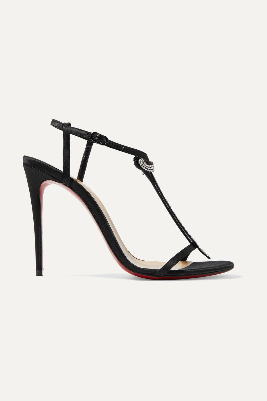 Christian Louboutin T Cab 100 crystal-embellished satin sandals
