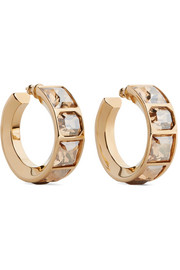 Tilly gold-tone crystal hoop earrings