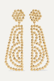 Chloé Valeria lacquered gold-tone earrings