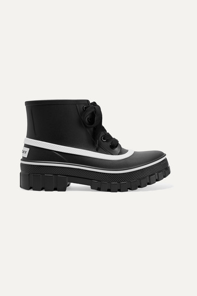 2066d895b Givenchy | Glaston logo-print rubber ankle boots | NET-A-PORTER.COM