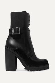 Givenchy Aviator suede and mesh-trimmed leather ankle boots