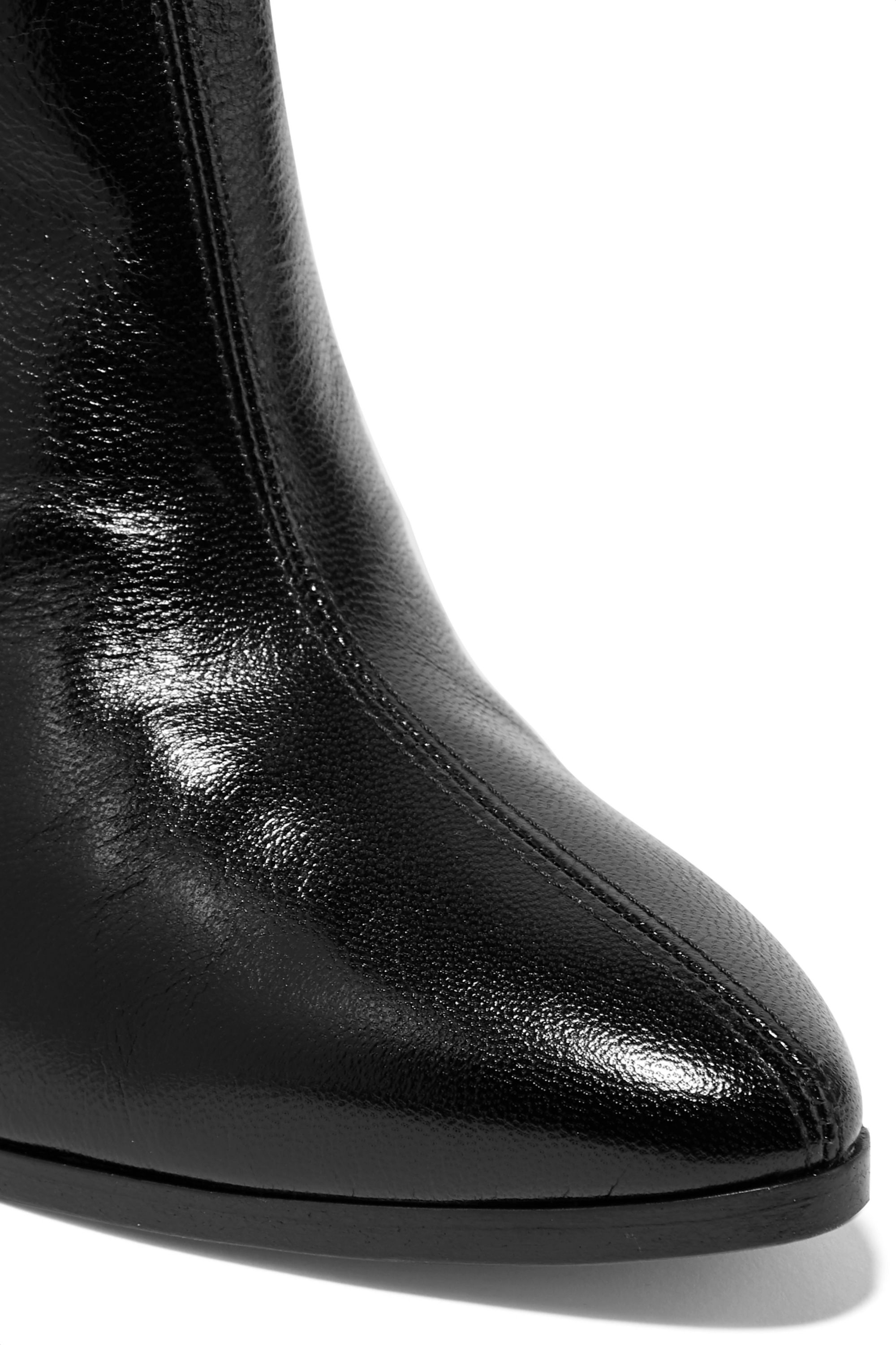 Givenchy GV3 suede-trimmed textured-leather ankle boots