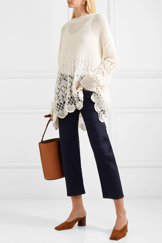 Jil Sander Crochet-knit cotton sweater