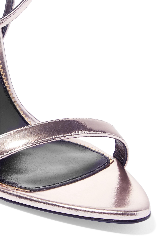 TOM FORD Padlock metallic leather sandals