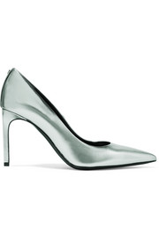 TOM FORD Metallic textured-leather pumps