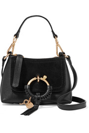 See By Chloé Joan mini suede-paneled textured-leather shoulder bag