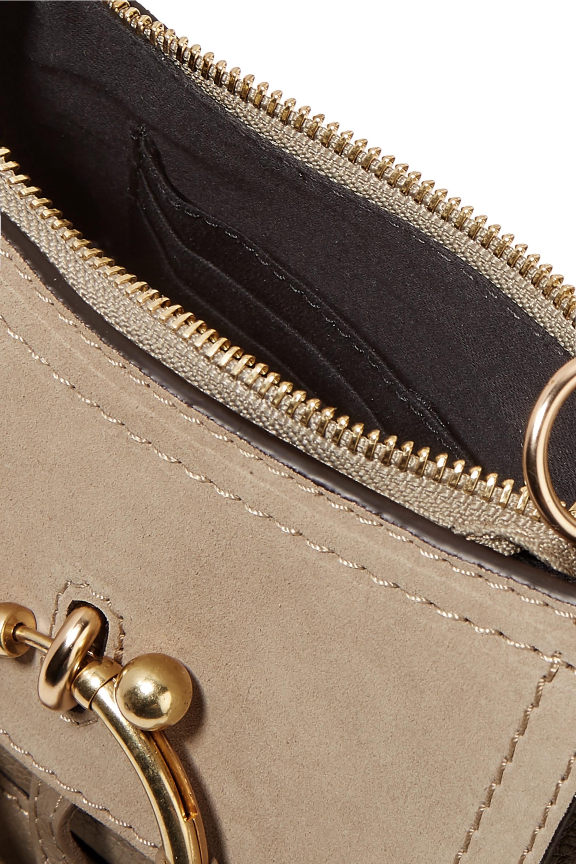 See By Chloé Joan mini Schultertasche aus strukturiertem Leder und Veloursleder