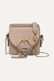 See By Chloé Square textured-leather and suede shoulder bag