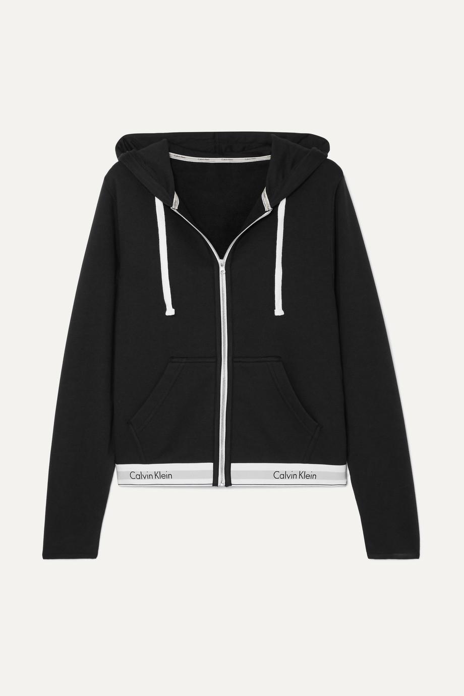 Calvin Klein Underwear 棉质混纺平纹布帽衫