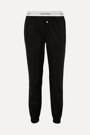 Modern cotton-poplin track pants