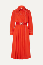 Fendi Pleated gabardine trench coat