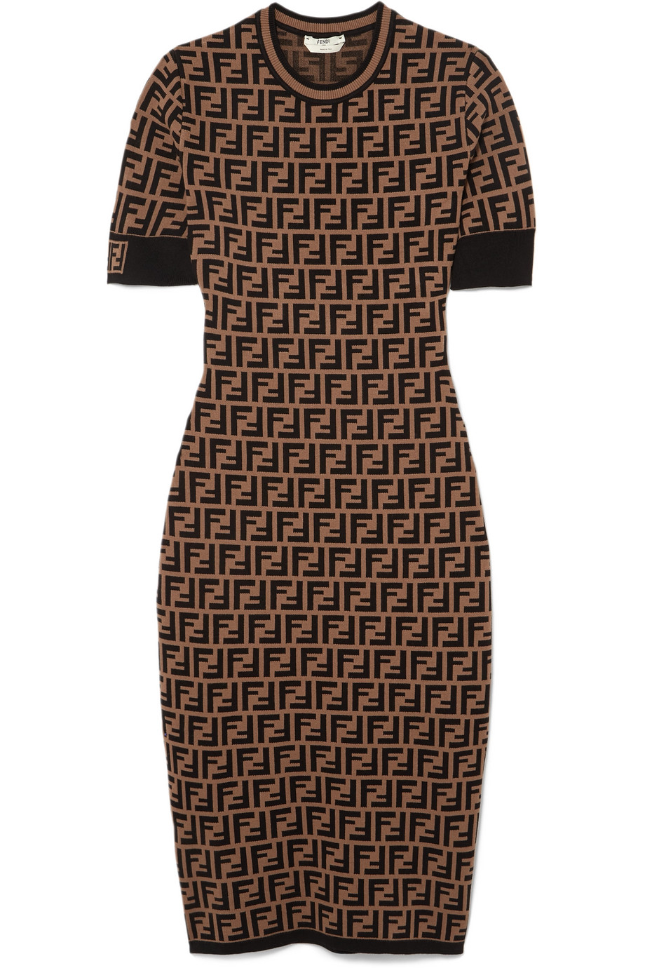 Fendi Robe en mailles jacquard stretch