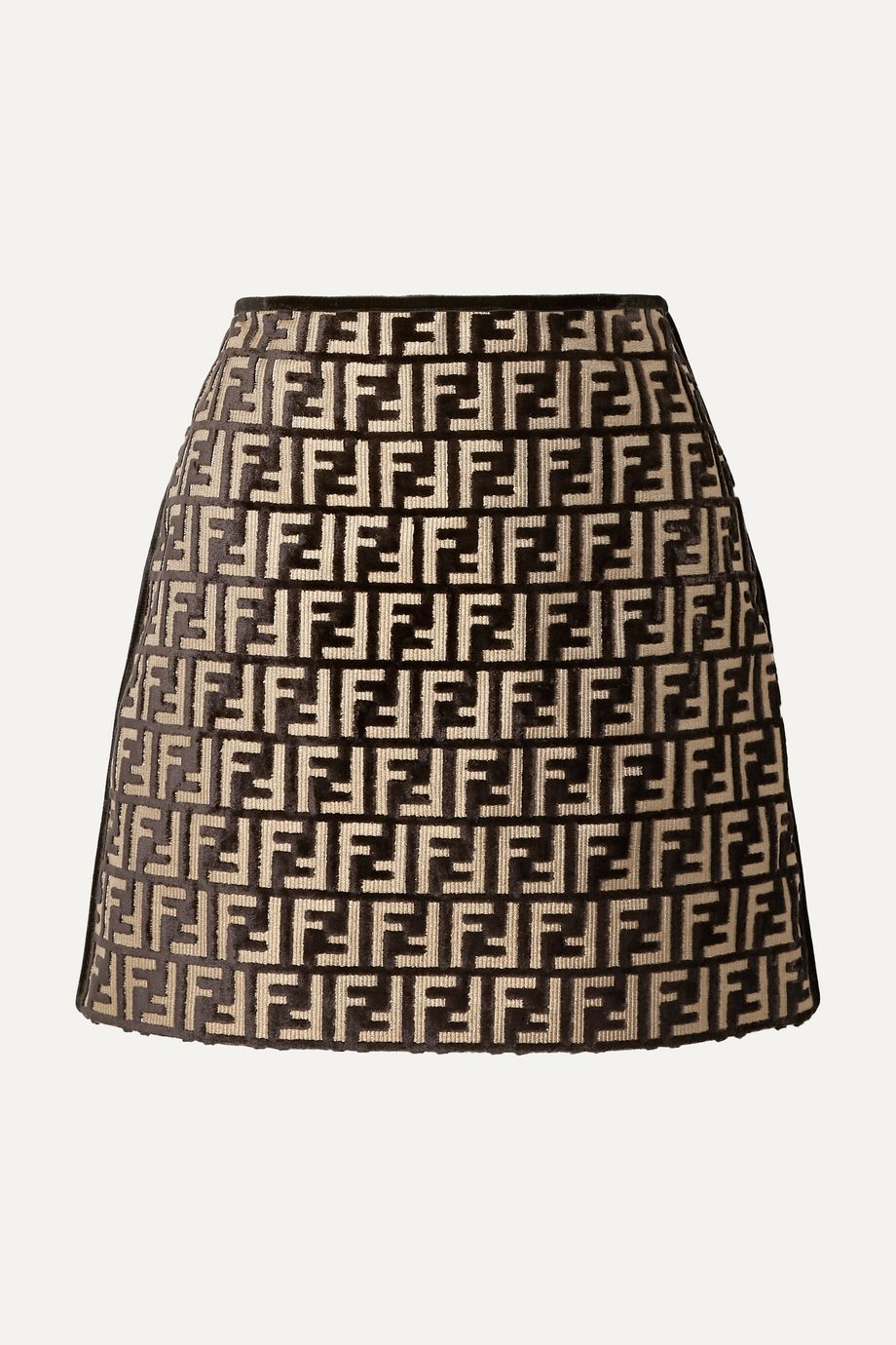 Fendi Flocked woven mini skirt