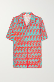 Fendi Printed cotton-poplin shirt