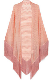 Fringed Lurex wrap