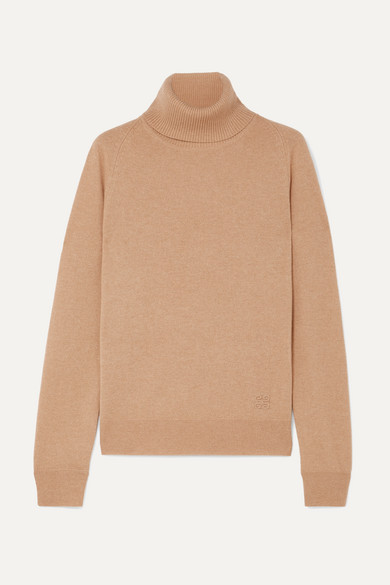 Givenchy Rings Embroidered cashmere turtleneck sweater