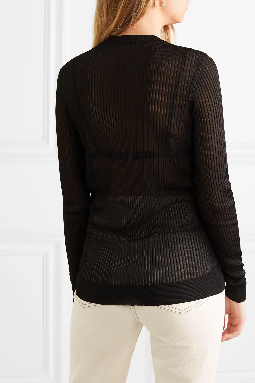 Givenchy Pull en mailles côtelées à broderie