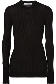 Givenchy Embroidered ribbed-knit top
