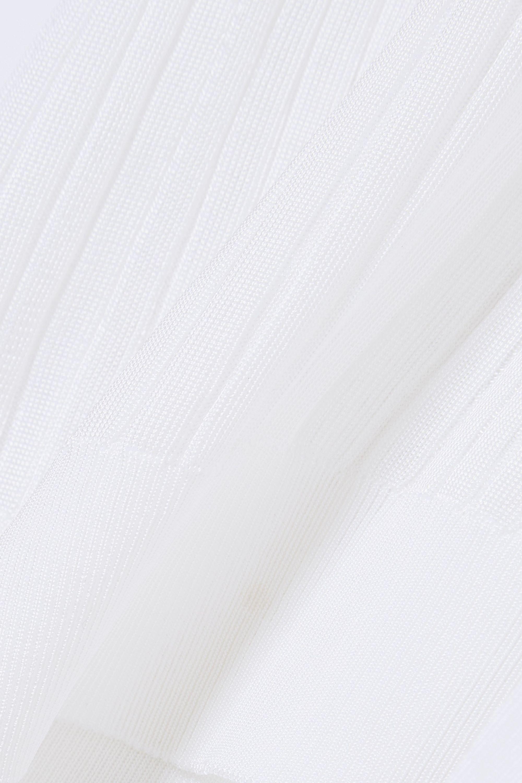 Givenchy Besticktes Stehkragenoberteil aus Rippstrick