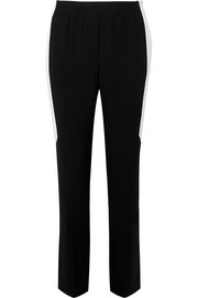 Givenchy Striped crepe straight-leg pants
