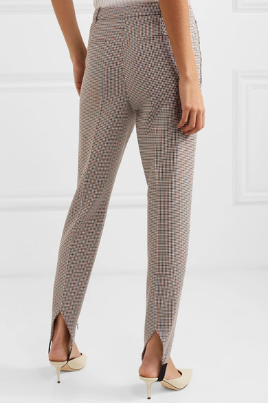 Givenchy Pants High-rise checked wool tapered stirrup pants
